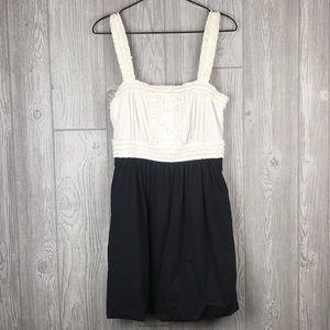 BCBG Maxazria Black White Tuxedo Bubble Dress